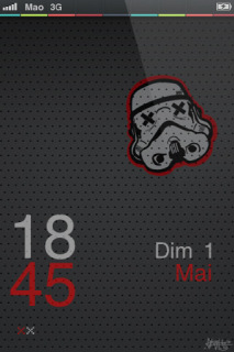 Storm Trooper Clock IPhone Theme Mobile Theme