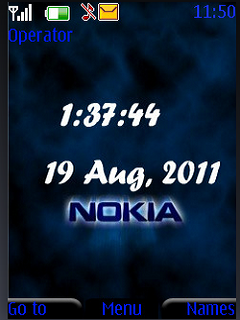 Nokia Digital Clock S40 Theme Mobile Theme