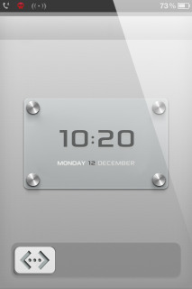 LS Locked Silver Clock IPhone Theme Mobile Theme