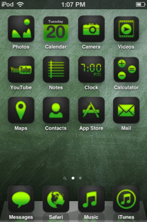 Green ICons Art IPhone Theme Mobile Theme