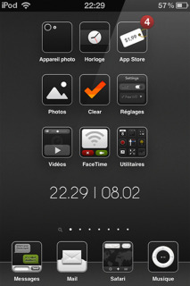 Avellino HD Black IPhone Theme Mobile Theme