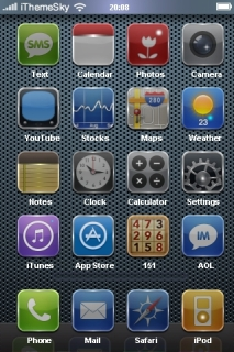 Dots Glassy ICons IPhone Theme Mobile Theme