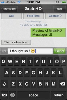 Text Type HD IPhone Theme Mobile Theme