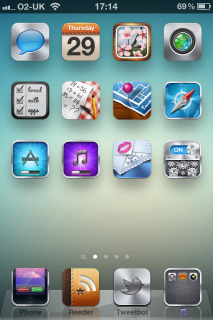 Effect Simple Background IPhone Theme Mobile Theme