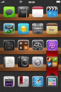 Wood Board ICons Menu IPhone Theme Mobile Theme