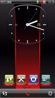 Red Best Clock Nokia S60v5 Theme Mobile Theme