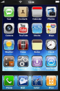 Blue Box ICons IPhone Theme Mobile Theme