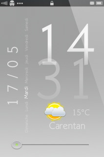 Gray White Weather Clock IPhone Theme Mobile Theme