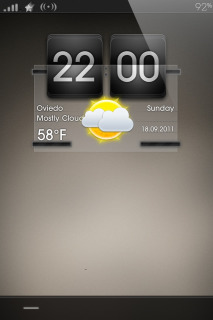 Dark Gray Weather IPhone Theme Mobile Theme