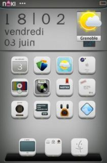 Silver Screen Weather IPhone Theme Mobile Theme