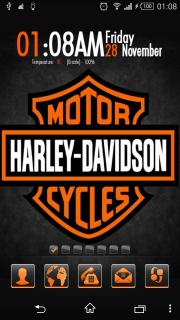 Harley Davidson & Time Android Theme Mobile Theme
