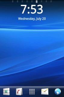 Blue 3D Xperia Free Android Theme Mobile Theme