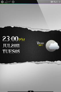 Dubai Weather Clock IPhone Theme Mobile Theme