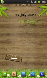 Wood & Grass Field Android Theme Mobile Theme