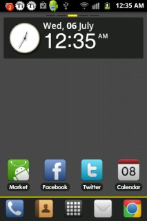 Black Texture HD Android Theme Mobile Theme