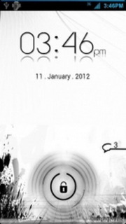 White Background Lock Screen Android Theme Mobile Theme
