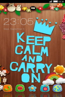 Keep Calm Carry On Free Android Theme Mobile Theme