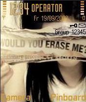 Erase Me Mobile Theme