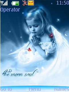 Moon Angel Mobile Theme