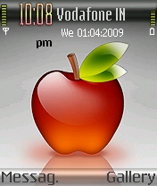 Glass Apple Mobile Theme