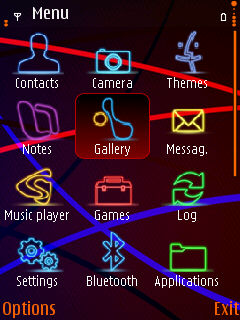 Glow Lines N95 Mobile Theme