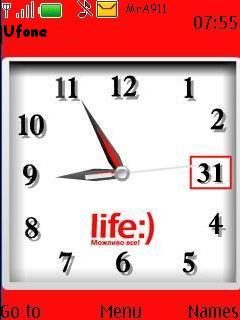 Life Clock Mobile Theme