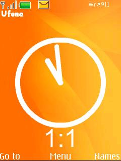Orange Clock Mobile Theme