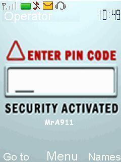 Animated Pin Code Mobile Theme