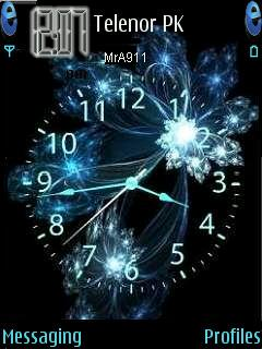 Crystal Clock Mobile Theme