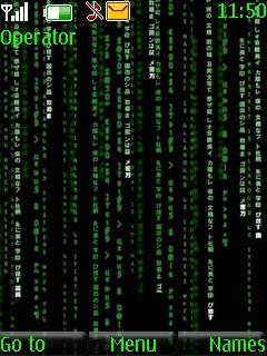 The Matrix Mobile Theme
