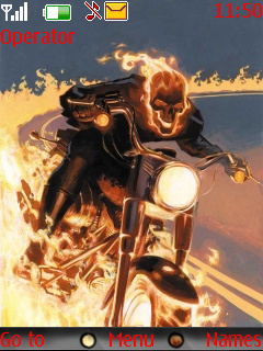 Ghost Rider Nokia Theme Mobile Theme