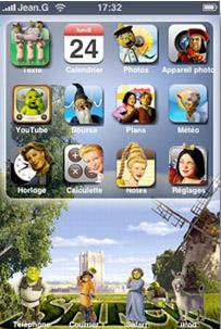 Sherk Apple IPhone Theme Mobile Theme