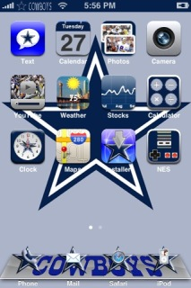 Cowboys Apple IPhone Theme Mobile Theme