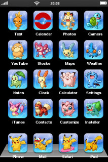 Pocket Monsters Mobile Theme