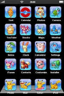Pocket Monsters Mobile Theme