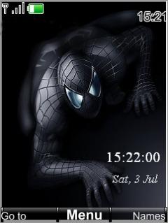 Spiderman Clock Mobile Theme