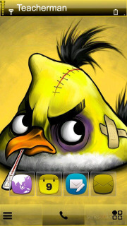 Angry Bird Yellow Mobile Theme