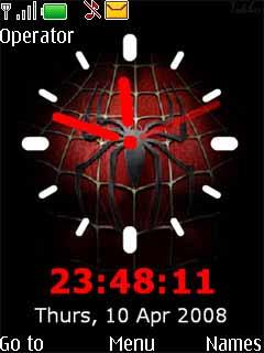 Spiderman Clock Mobile Theme