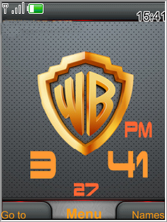 Warner Bros Clock S40 Theme Mobile Theme