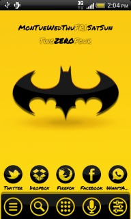 Batman Black & Yellow For Android Theme Mobile Theme