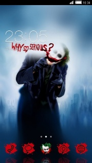Why So Serious Free Android Theme Mobile Theme