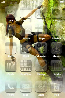 Tomb Raider IPhone Theme Mobile Theme