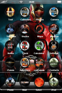 Red Iron Man ICons IPhone Theme Mobile Theme