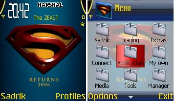 Superman Returns Mobile Theme