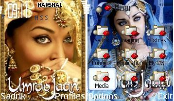 Aishwarya In Umraojaan Mobile Theme