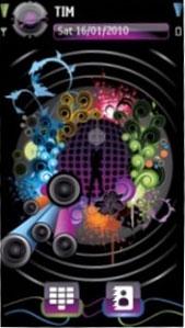 Abstract Music S60 V5 Theme Mobile Theme