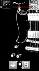 Black Guitar Mobile Theme
