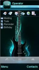 Blue Guitar Mobile Theme