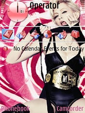 Madonna Hard Candy Mobile Theme