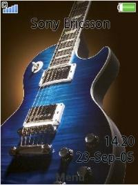 Les Paul Azul Mobile Theme